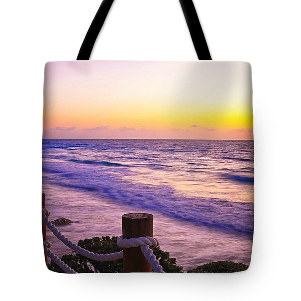 Sunrise In Cancun Tote Bag