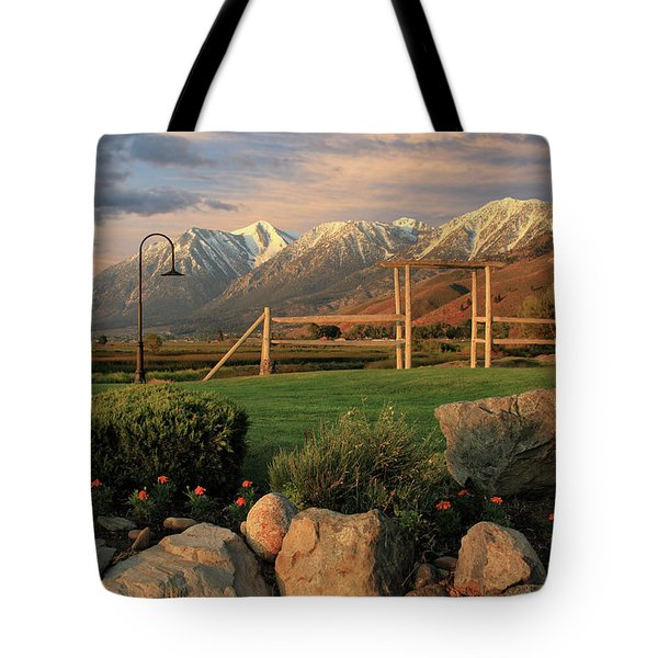 Sunrise In Carson Valley Tote Bag by James Eddy