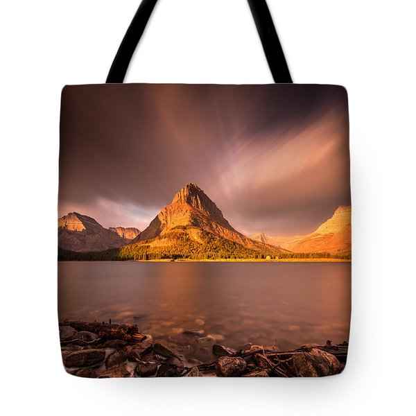Sunrise In Glacier National Park Tote Bag