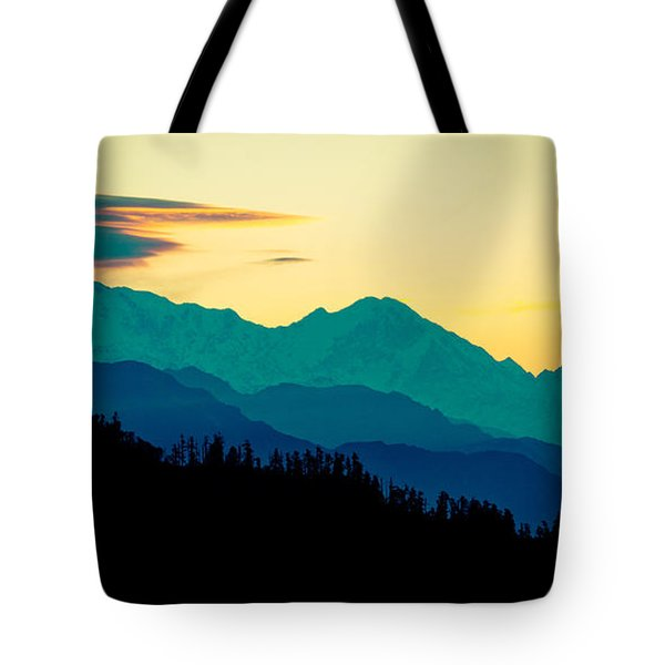 Sunrise In Himalayas Annapurna Yatra Himalayas Mountain Nepal Poon Hill Tote Bag