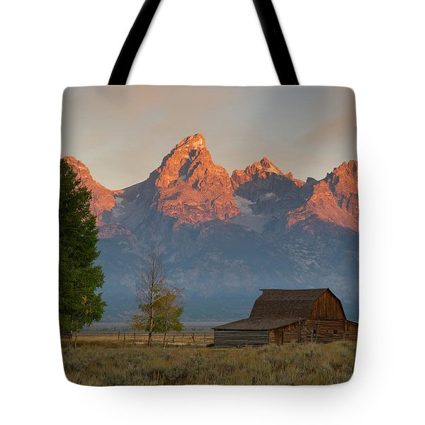 Sunrise In Jackson Hole Tote Bag