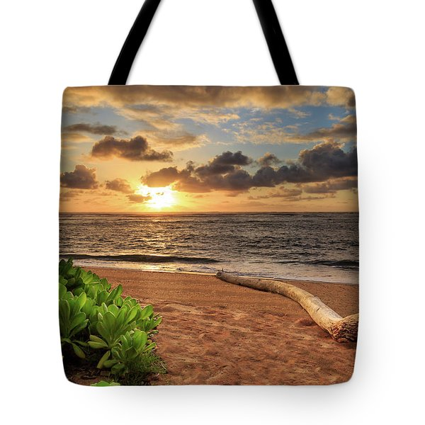 Tote Bag featuring the photograph Sunrise In Kapaa by James Eddy