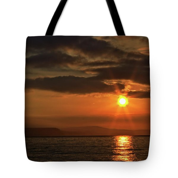 Tote Bag featuring the photograph Sunrise In Portland by Baggieoldboy