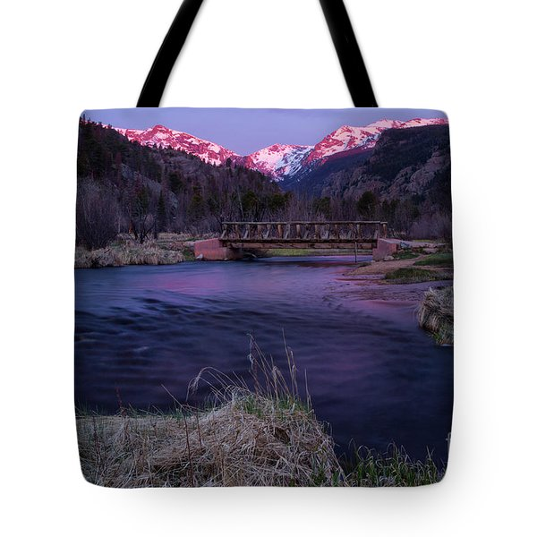 Sunrise In Rocky Mountain National Park And The Big Thompson Riv Tote Bag