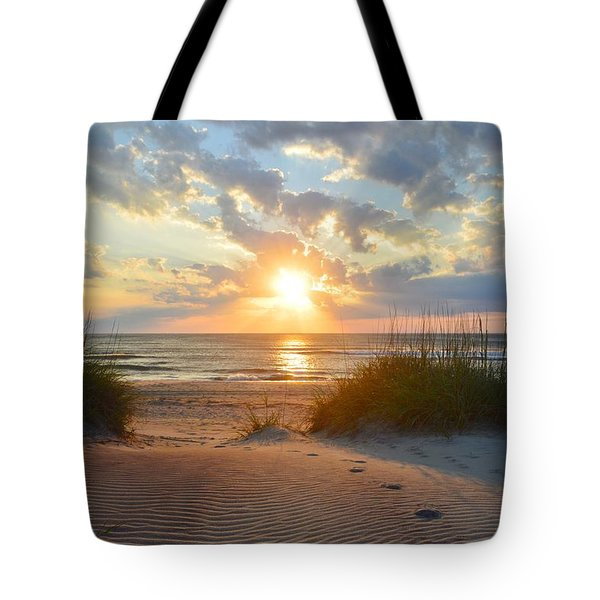 Sunrise In South Nags Head Tote Bag