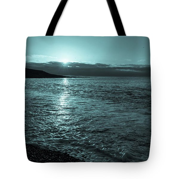 Sunrise In Stonehaven B-w Tote Bag by Sergey Simanovsky