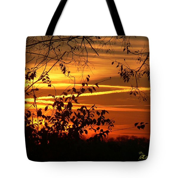 Tote Bag featuring the photograph Sunrise In Tennessee by EricaMaxine  Price