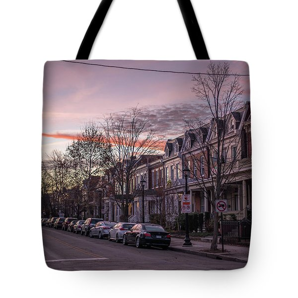 Sunrise In The Fan Tote Bag