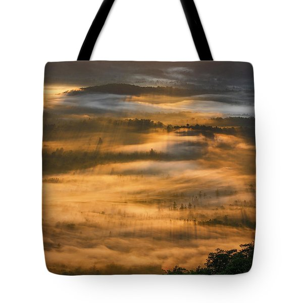 Sunrise In The Valley Tote Bag