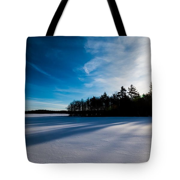 Sunrise In Winter Tote Bag