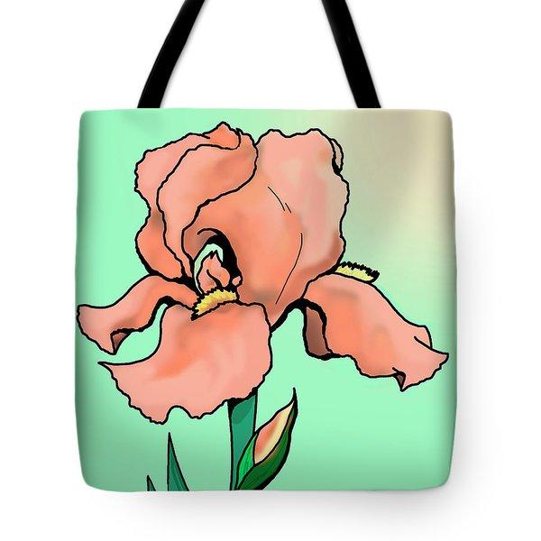 Sunrise Iris Tote Bag