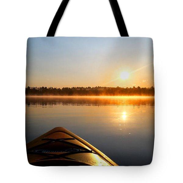 Sunrise Kayaking  Tote Bag