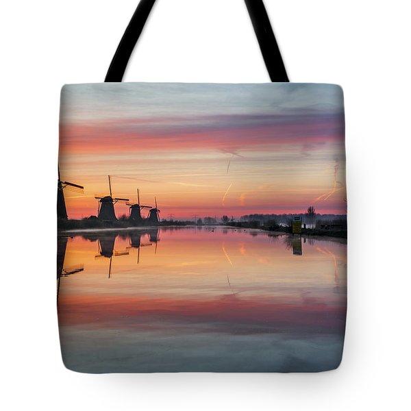 Sunrise Kinderdijk Tote Bag