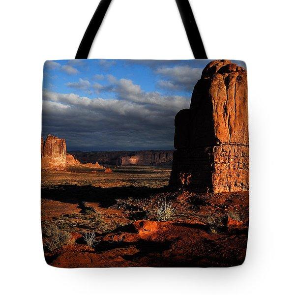 Sunrise La Sal Mountains Tote Bag