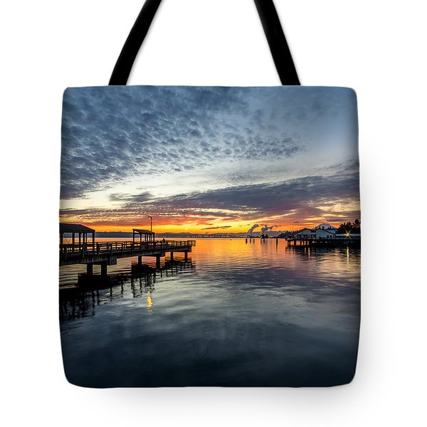 Sunrise Less Davice Pier Tote Bag