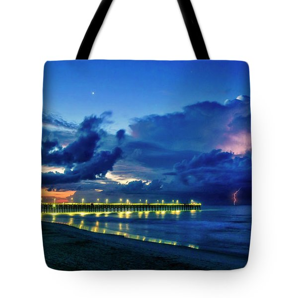 Sunrise Lightning Tote Bag
