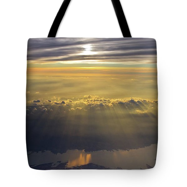 Sunrise From 30,000 Feet Tote Bag