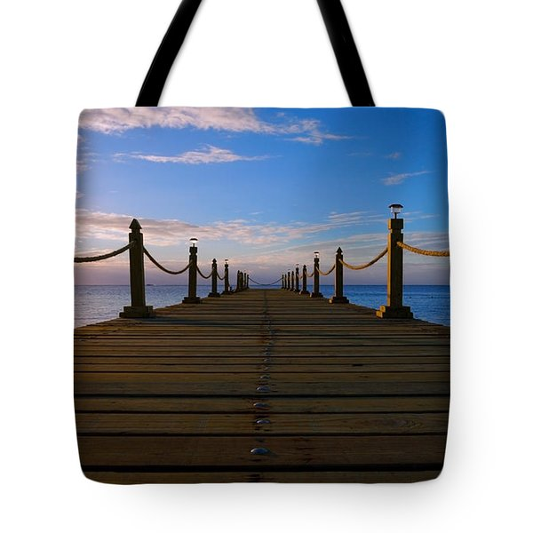 Sunrise Morning Bliss Pier 140a Tote Bag