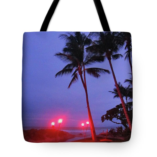 Sunrise Ocean Pathway Tote Bag