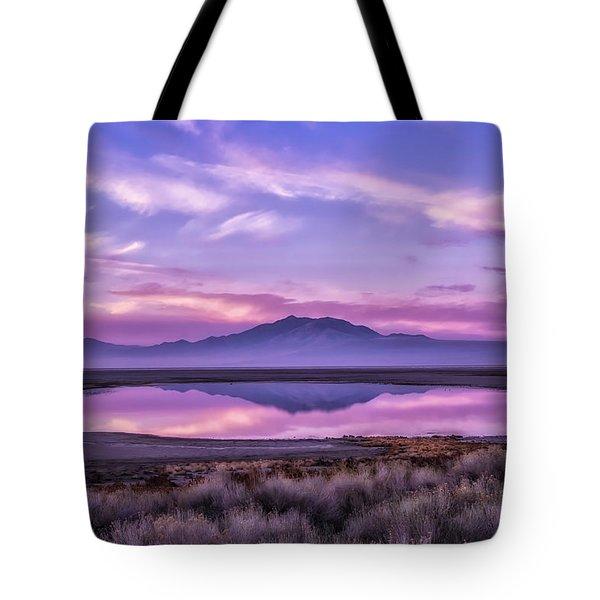 Sunrise On Antelope Island Tote Bag