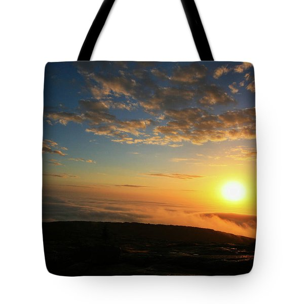 Sunrise On Cadillac Mountain Tote Bag