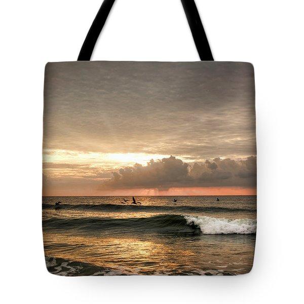 Sunrise On Carolina Beach North Carolina Tote Bag