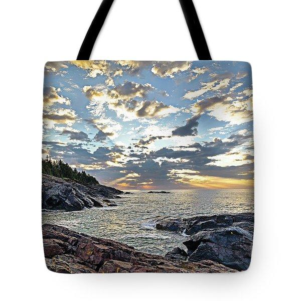 Sunrise On Christmas Cove Tote Bag