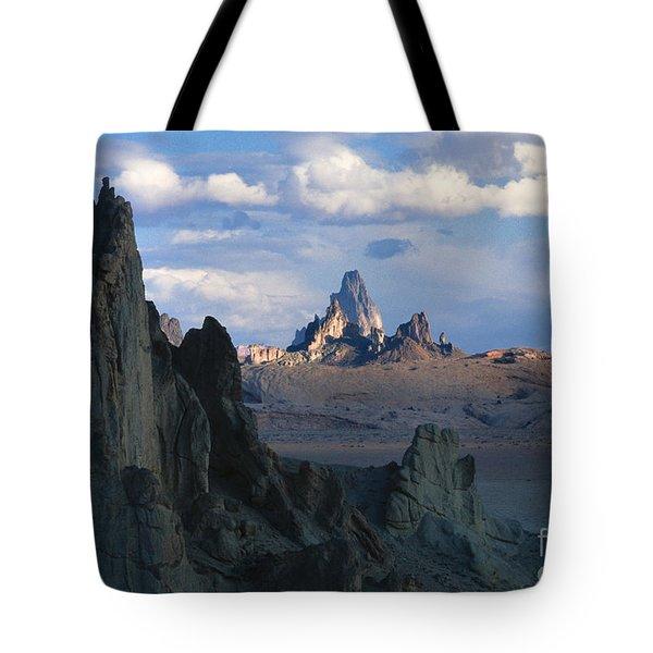 Sunrise On Church Rock  Tote Bag by Sandra Bronstein