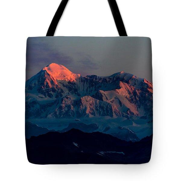 Sunrise On Denali Tote Bag