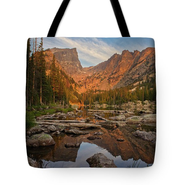 Sunrise On Dream Lake Tote Bag