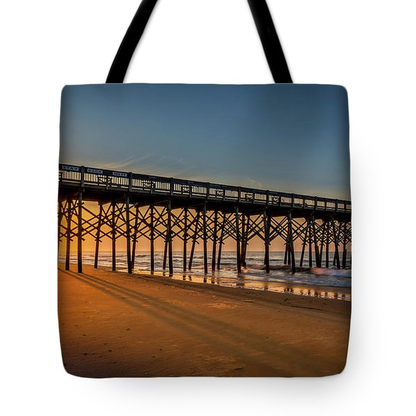Tote Bag featuring the photograph Sunrise On Folly Island by Rikk Flohr