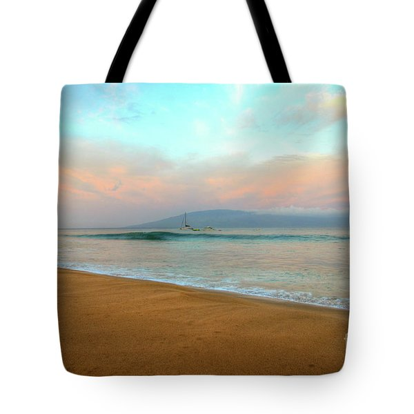Tote Bag featuring the photograph Sunrise On Ka'anapali by Kelly Wade