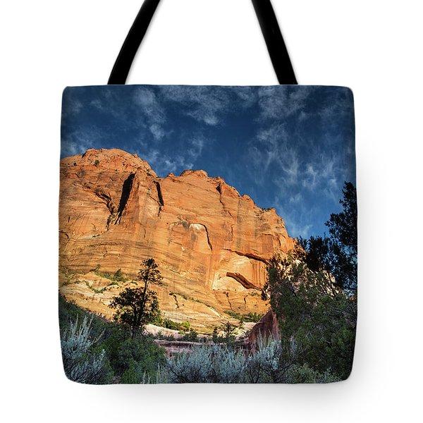 Sunrise On Kolob Arch Trail Tote Bag