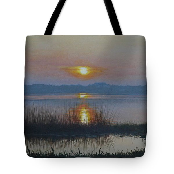 Sunrise On Lake Hollingsworth Tote Bag by Michael Nowak