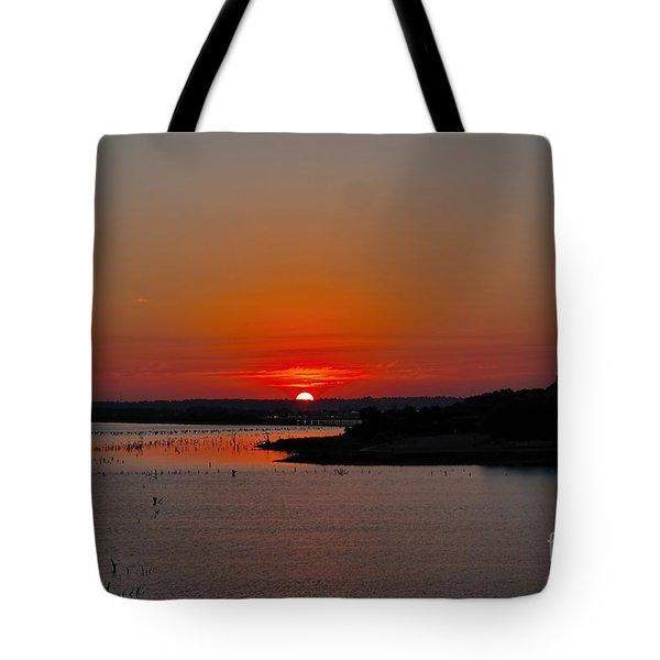 Sunrise On Lake Ray Hubbard Tote Bag