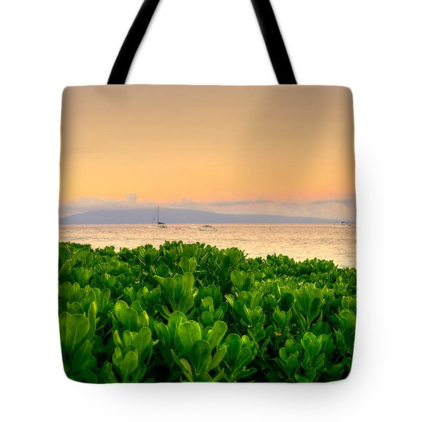 Tote Bag featuring the photograph Sunrise On Maui by Kelly Wade
