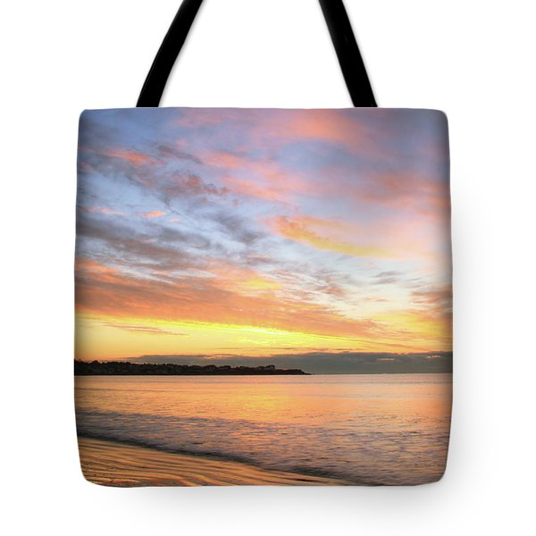 Tote Bag featuring the photograph Sunrise On Middletown Rhode Island by Roupen  Baker