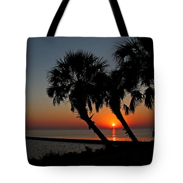Tote Bag featuring the photograph Sunrise On Pleasure Island by Judy Vincent