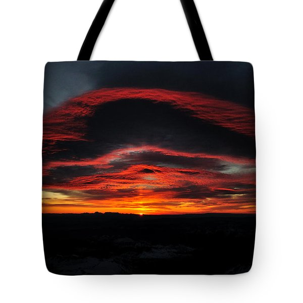 Sunrise On Rainier Tote Bag