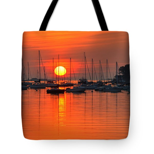 Sunrise On Salem Harbor Salem Ma Tote Bag