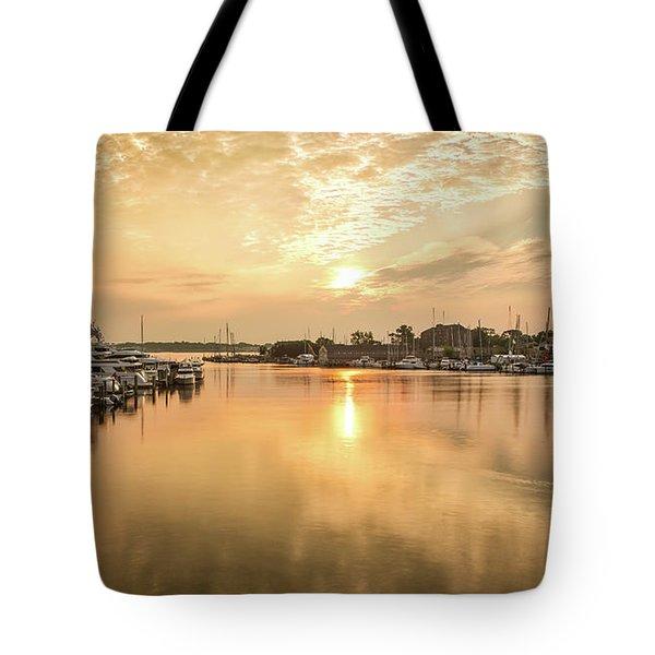 Sunrise On Spa Creek Tote Bag