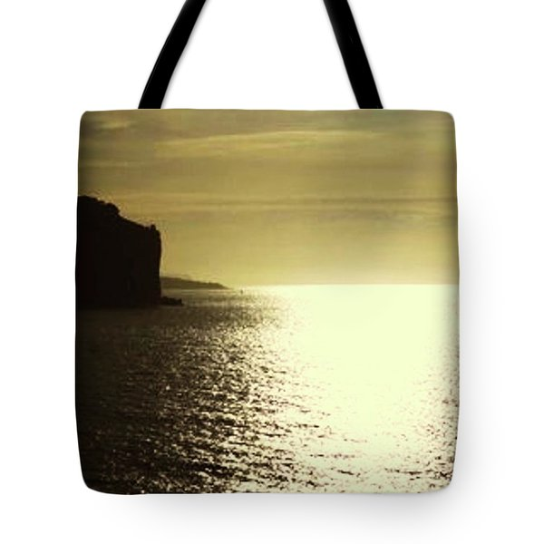 Tote Bag featuring the photograph Sunrise On The Almalfi Coast by Polly Peacock