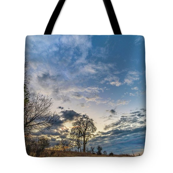 Sunrise On The Back Hill Tote Bag