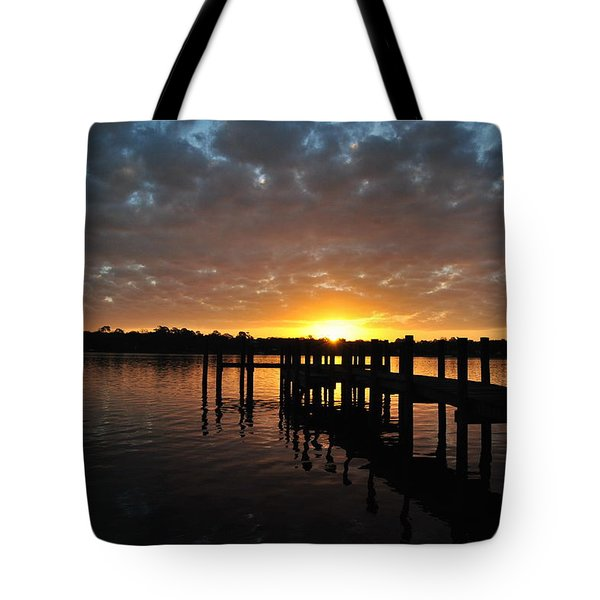 Sunrise On The Bayou Tote Bag by Michele Kaiser