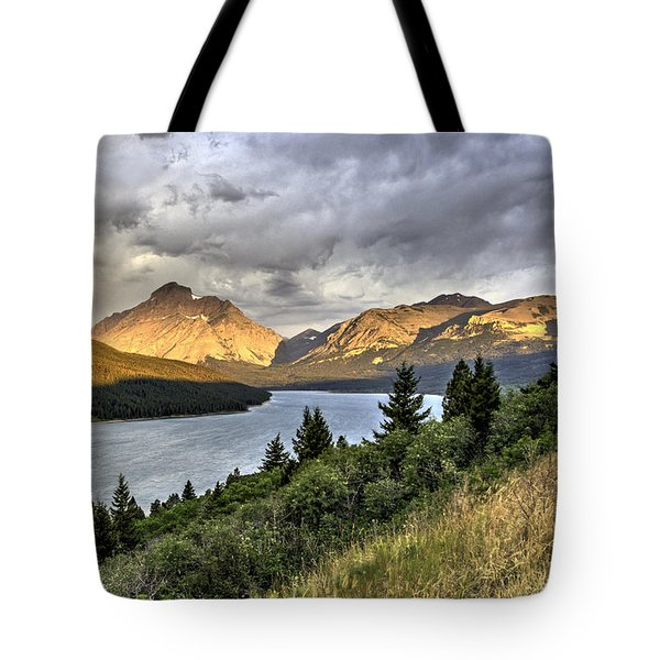 Sunrise On The Bitterroot River Tote Bag by Alan Toepfer