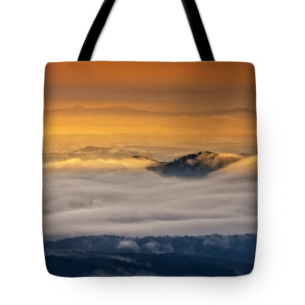 Sunrise On The Blue Ridge Parkway Tote Bag