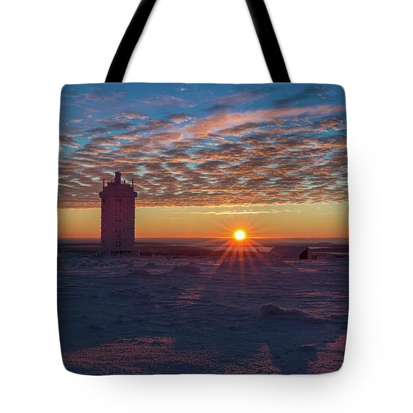 Sunrise On The Brocken, Harz Tote Bag