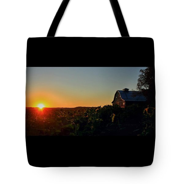 Tote Bag featuring the photograph Sunrise On The Farm by Chris Berry