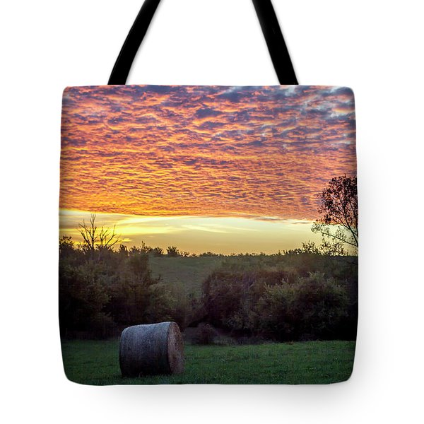 Sunrise On The Farm Tote Bag