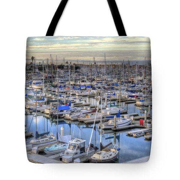 Sunrise On The Harbor Tote Bag